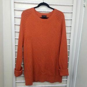 Banana Republic Factory Orange Chunky Sweater XL